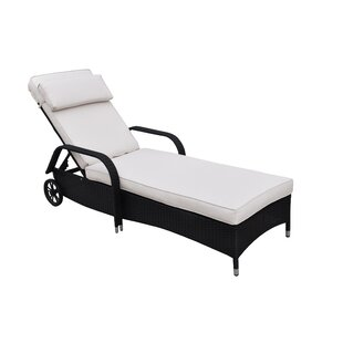 Lizkona Nasrin Adjustable Patio Lounge Chair with Cushion