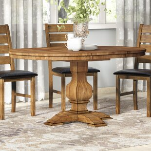 Fortville Extendable Solid Wood Dining Table Three Posts