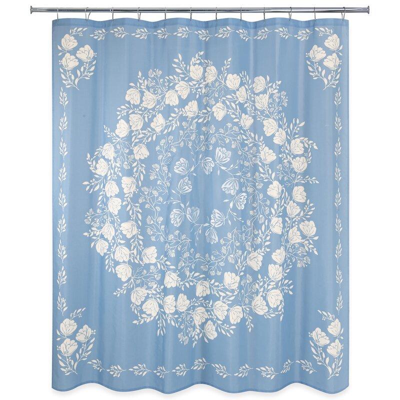 Winston Porter Faer Floral Single Shower Curtain Wayfair