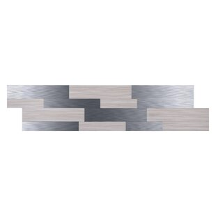 6 X 24 Pvc Metal L Stick Backsplash Panel In Silver
