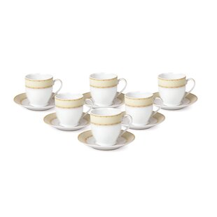 Espresso Cup and Saucer Set (Set of 6)
