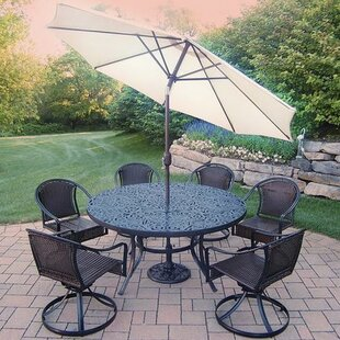 Tuscany 7 Piece Dining Set by Oakland Living Best Choices
