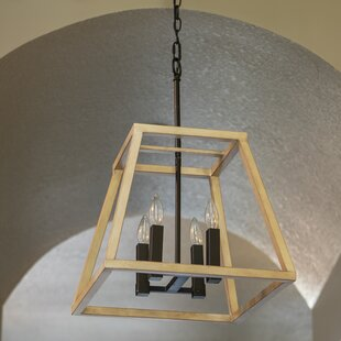 Sofiya 4-Light Geometric Chandelier by Union Rustic