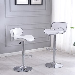 Shopping for Colchester Adjustable Height Swivel Bar Stool (Set of 2) by Wade Logan Reviews (2019) & Buyer's Guide