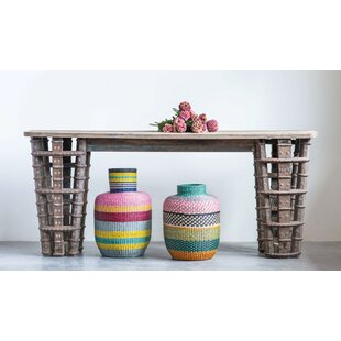 Keifer Reclaimed Wood Console Table by Bungalow Rose