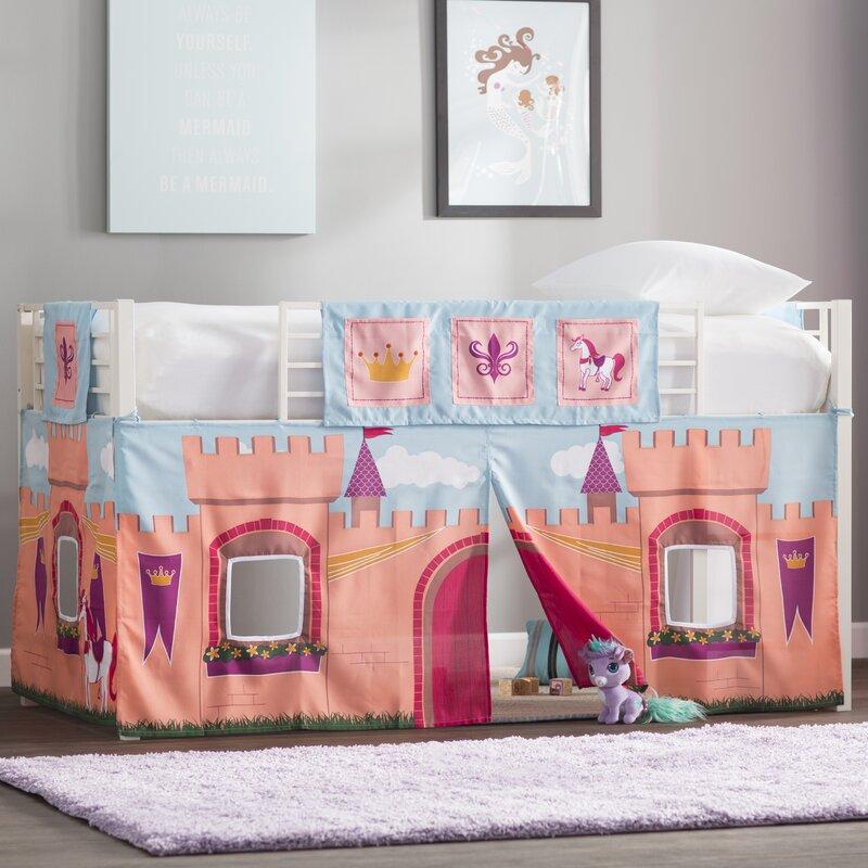 Zoomie Kids Catalina Princess Castle Curtain Set for Junior Loft