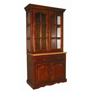 Charlton Home Canale Lighted China Cabinet