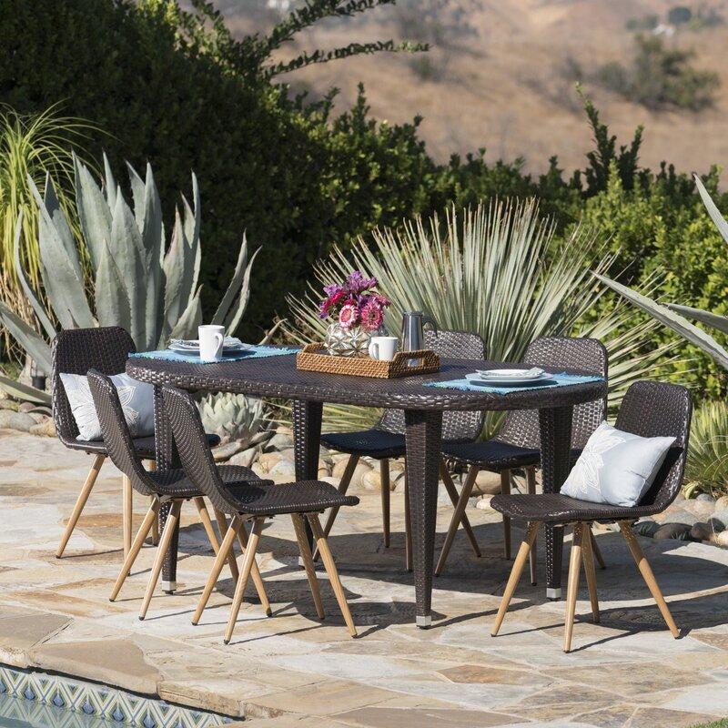 Genial Ramm Outdoor 7 Piece Dining Set