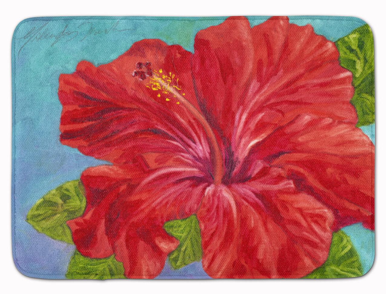 East Urban Home Hibiscus By Malenda Trick Memory Foam Bath Rug Wayfair
