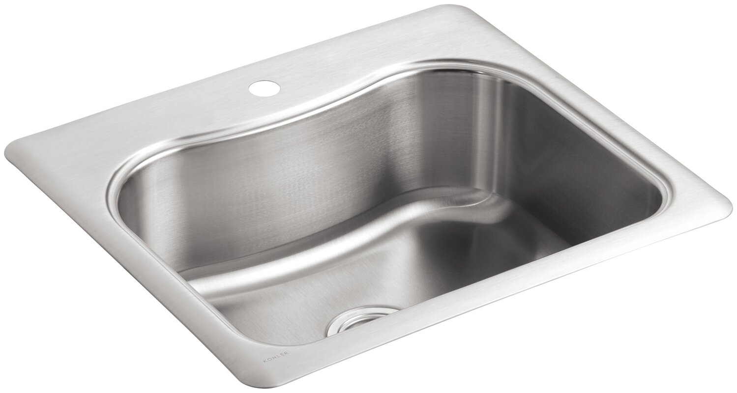K 3362 1 na kohler staccato 25 x 22 x 8 516 top mount single staccato 25 x 22 x 8 516 top mount workwithnaturefo