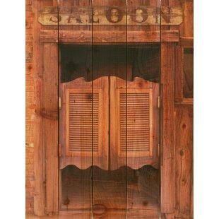 Door saloon swinging