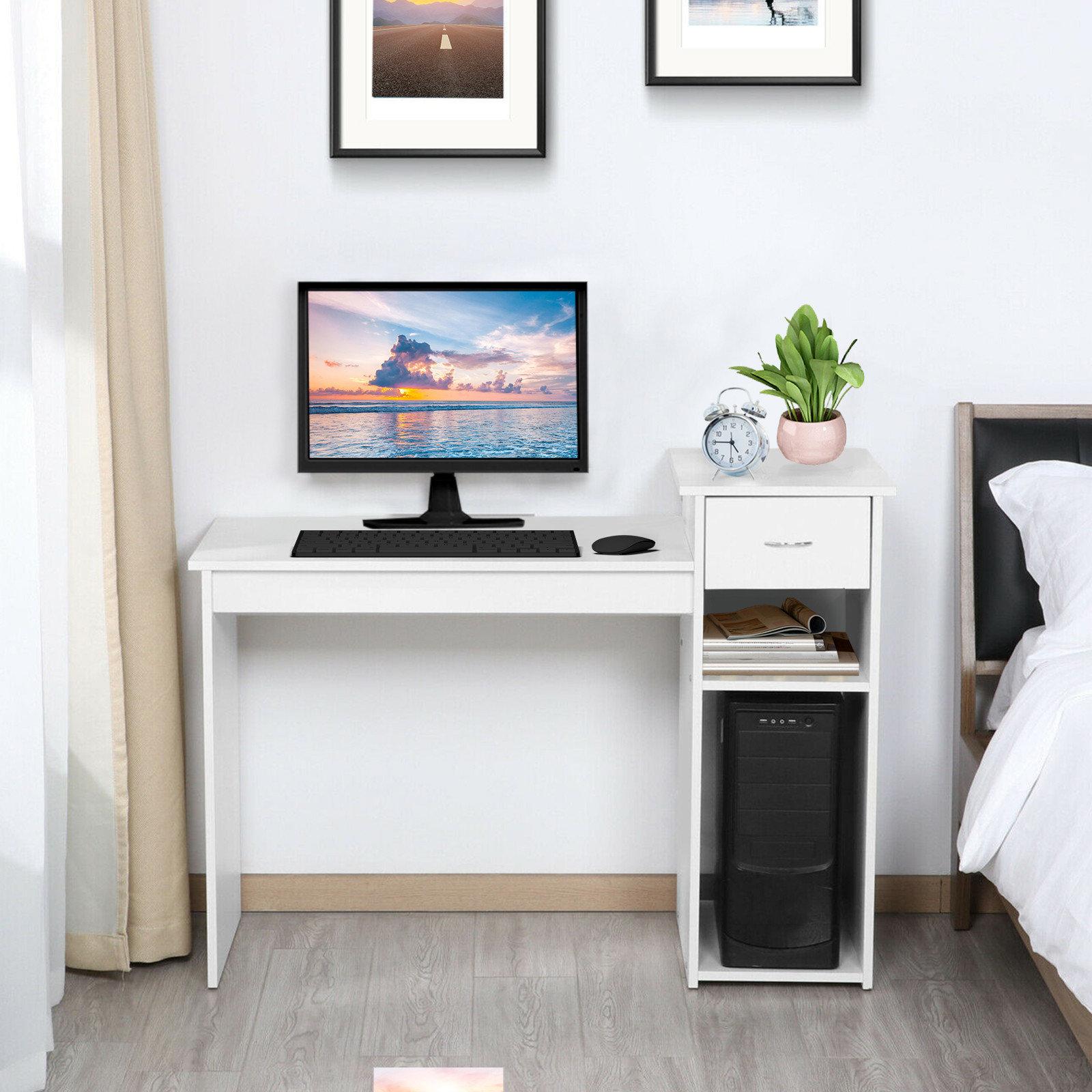 Ebern Designs Home Desktop Computer Desk With Drawers Home Small Desk Dormitory Study Desk Wayfair