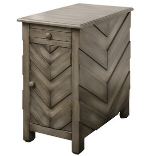 Massie Arrow End Table with Storage