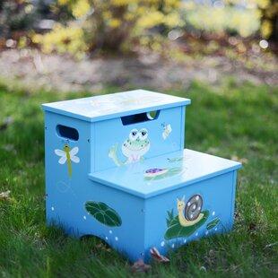 Froggy Step Stool with Storage by Fantasy Fields
