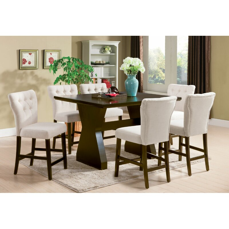 Shoup 7 Piece Counter Height Dining Set