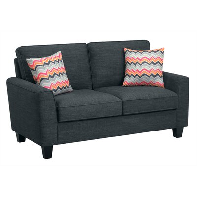 Cool Astoria Loveseat Serta At Home Upholstery Charcoal Ibusinesslaw Wood Chair Design Ideas Ibusinesslaworg