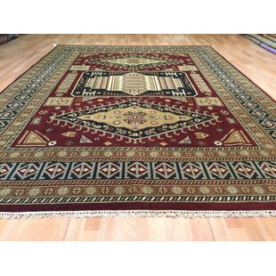 Kazak Hand-Knotted Rust/Green Area Rug By Rug Tycoon
