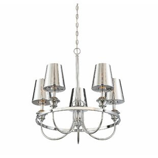 House of Hampton Mickle 5-Light LED Shaded Chandelier