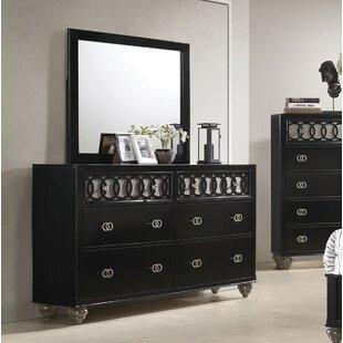 House of Hampton Nims 6 Drawer Double Dresser
