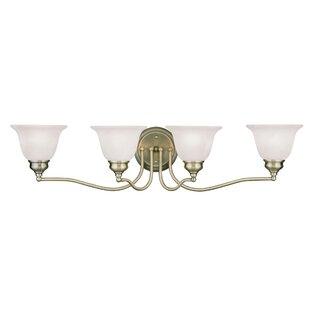 Price comparison Cicco 4-Light Vanity Light By Charlton Home