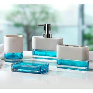 teal bathroom accessories. Float 4 Piece Bathroom Accessory Set Bath Sets You ll Love