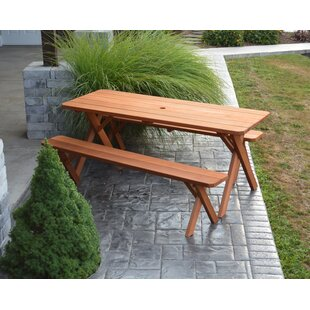 Rowland-Coman Solid Wood Picnic Table