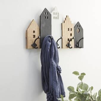 Canora Grey Kimura Solid Wood 6 Hook Wall Mounted Coat Rack Wayfair