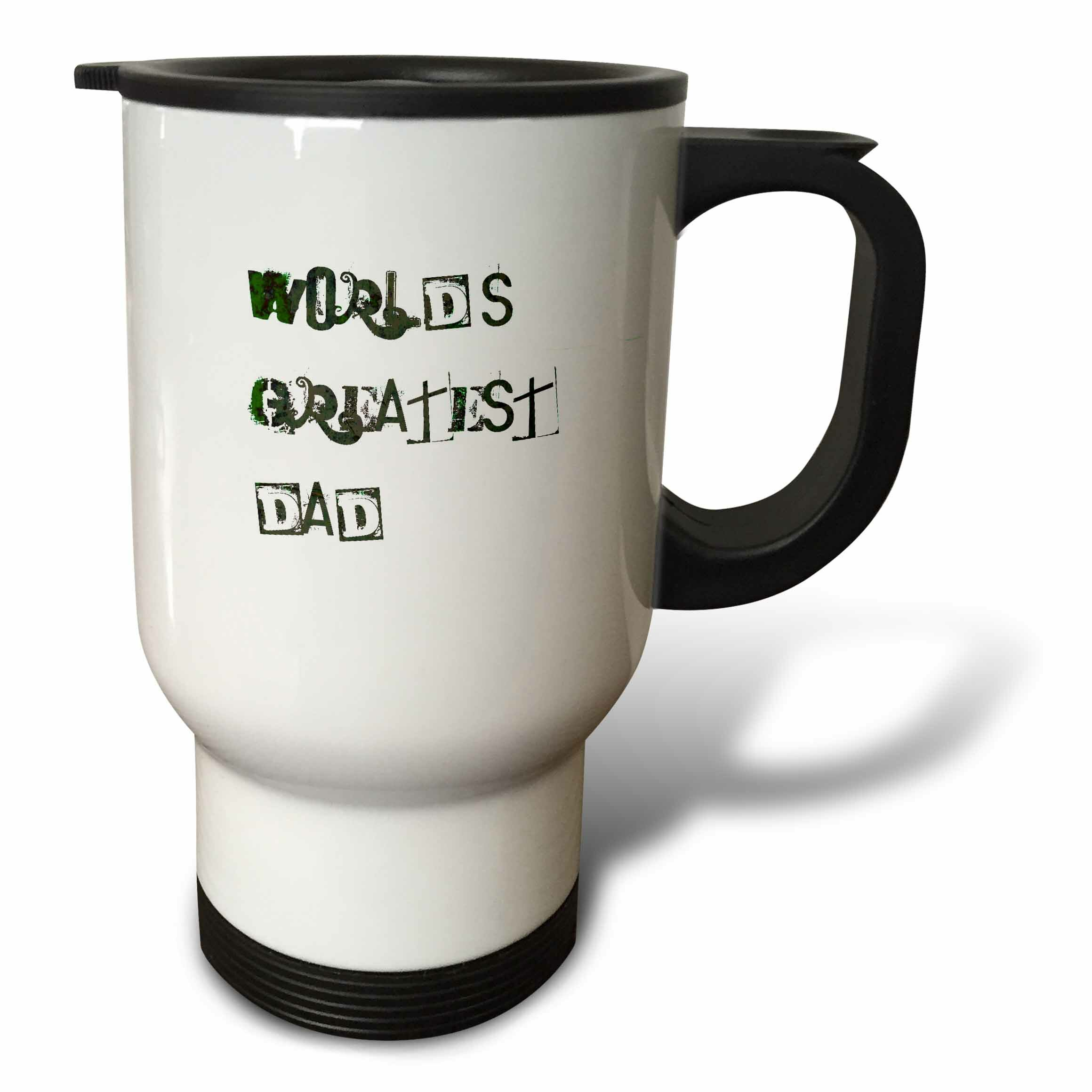 3dRose Worlds Greatest Dad Words Love Fathers Day 14 oz Stainless Steel  Travel Mug   Wayfair