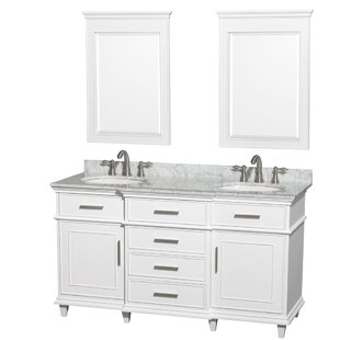 Berkeley 60 Double Bathroom Vanity Set with Mirror