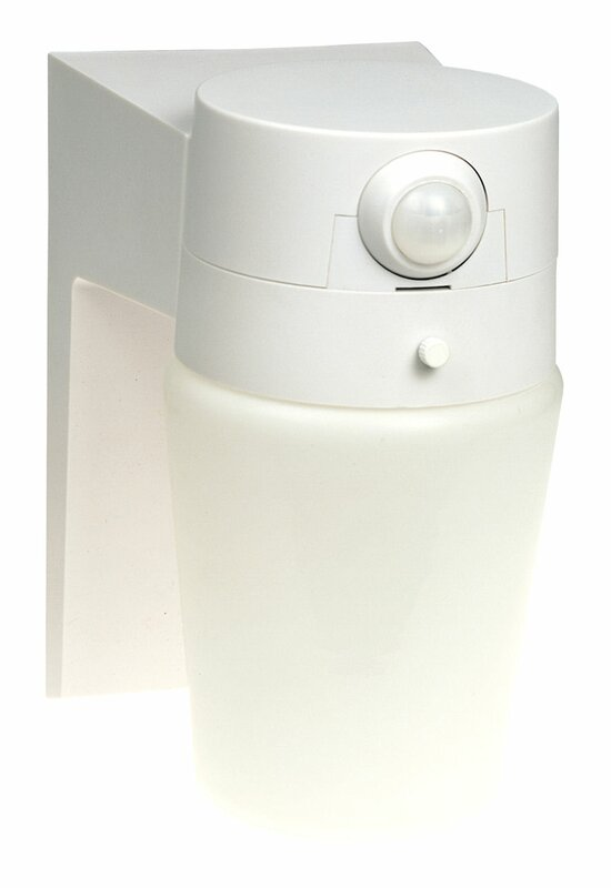 Motion Activated 1-Light Outdoor Wall lantern