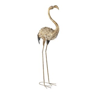 Rodolfo Very Tall Standing Flamingo Statue By Happy Larry