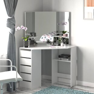 Which Makeup Vanity Is Best For Home Rosdorf Park Embree Makeup Vanity Set With Stool And Mirror