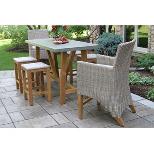 Gracie Oaks Sutter 7 Piece Teak Sunbrella Dining Set