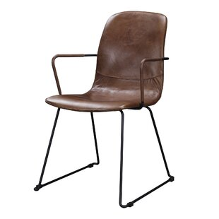 Towns Genuine Leather Upholstered Dining Chair