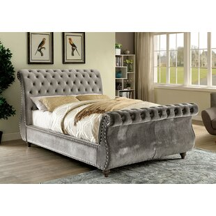 Wiesner Upholstered Low Profile Sleigh Bed