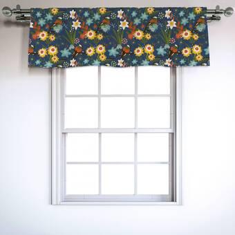 Plow Hearth Floral Rod Pocket Homespun Insulated 14 Window Valance Wayfair