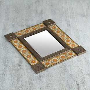 6693b09fbf3 Frohna Colonial Flair Ceramic and Tin Traditional Accent Mirror. by World  Menagerie