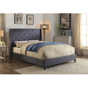 Burwood Upholstered Platform Bed by Charlton Home