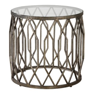 Bungalow Rose Mckinley Glass End Table