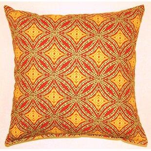 Sun Swirl Knife Edge Cotton Throw Pillow (Set of 2)