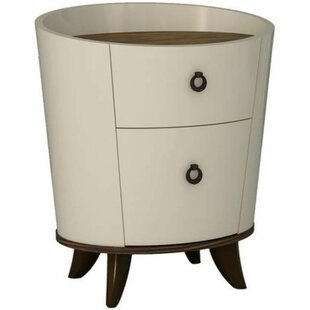 Mirefield Cylindrical Wooden 2 Drawer Nightstand by Latitude Run