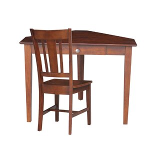 Bovingdon Solid Wood Corner Writing Desk With Optional Chair Set by DarHome Co No Copoun