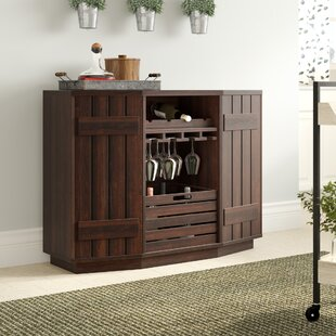 Slatted Cabinet Wine Server August Grove