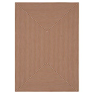Kircher Hand-Woven Orange Indoor/Outdoor Area Rug