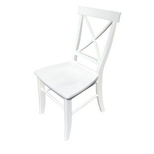 Ed Solid Wood Dining Chair Highland Dunes