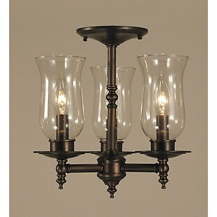 Framburg Sheraton 3-Light Semi Flush Mount