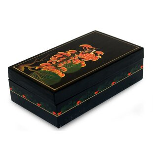 Lacquered Flame of the Forest Wood Jewelry Box ByBloomsbury Market