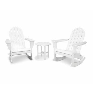 Vineyard 3 Piece Plastic Rocking Adirondack Chair Set