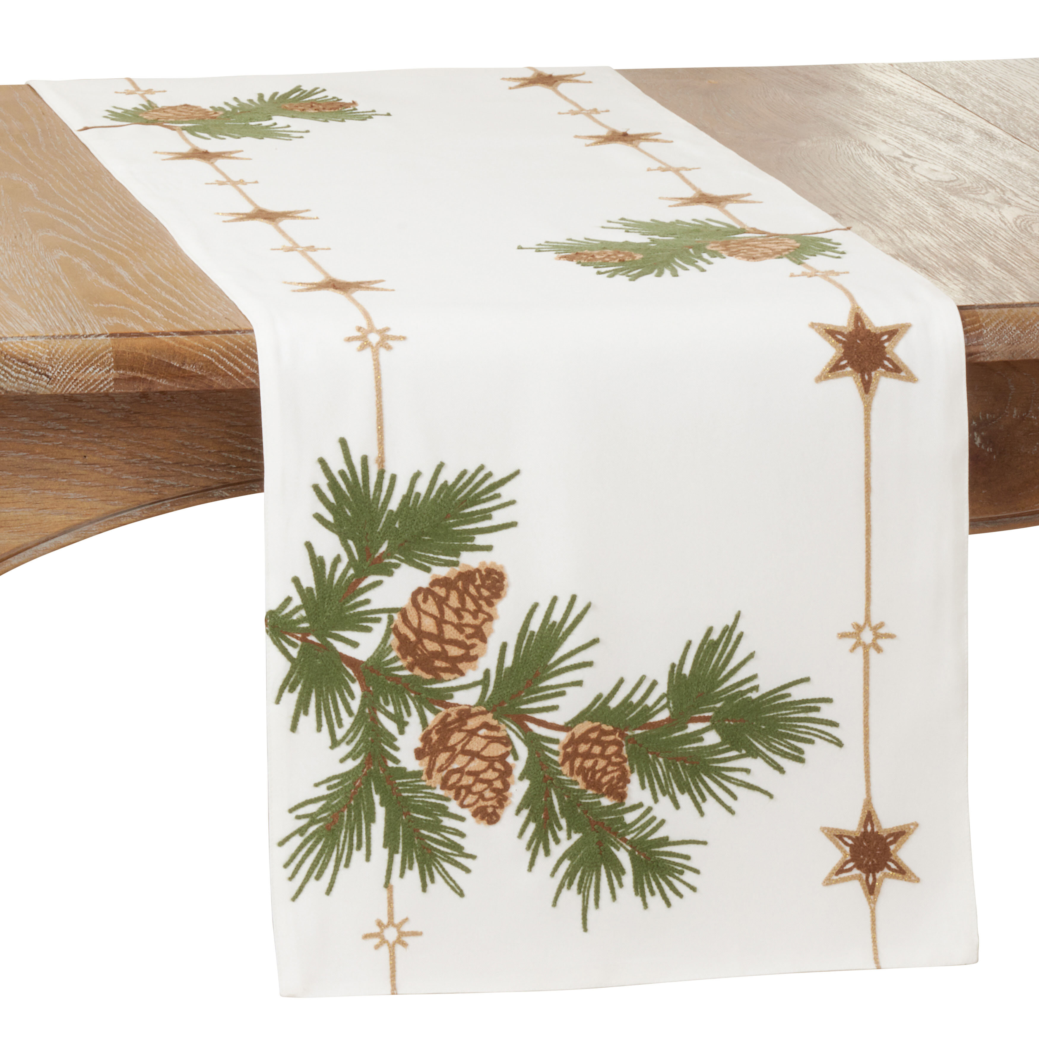 The Holiday Aisle Izumi Floral Christmas Table Runner Wayfair