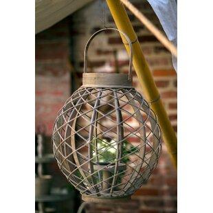 Round Rattan Lantern by Bungalow Rose